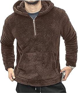 HEFASDM Men's Loose Fit Solid Colored Pullover Hoodie Hoode Sweatshirts