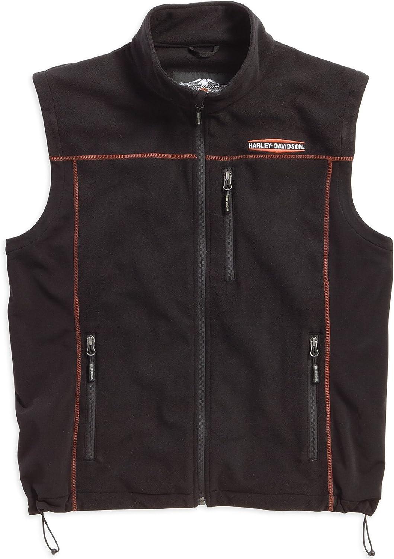 Harley-Davidson Men's Fleece Mid-Layer Vest Windproof. 98567-16VM (Large)
