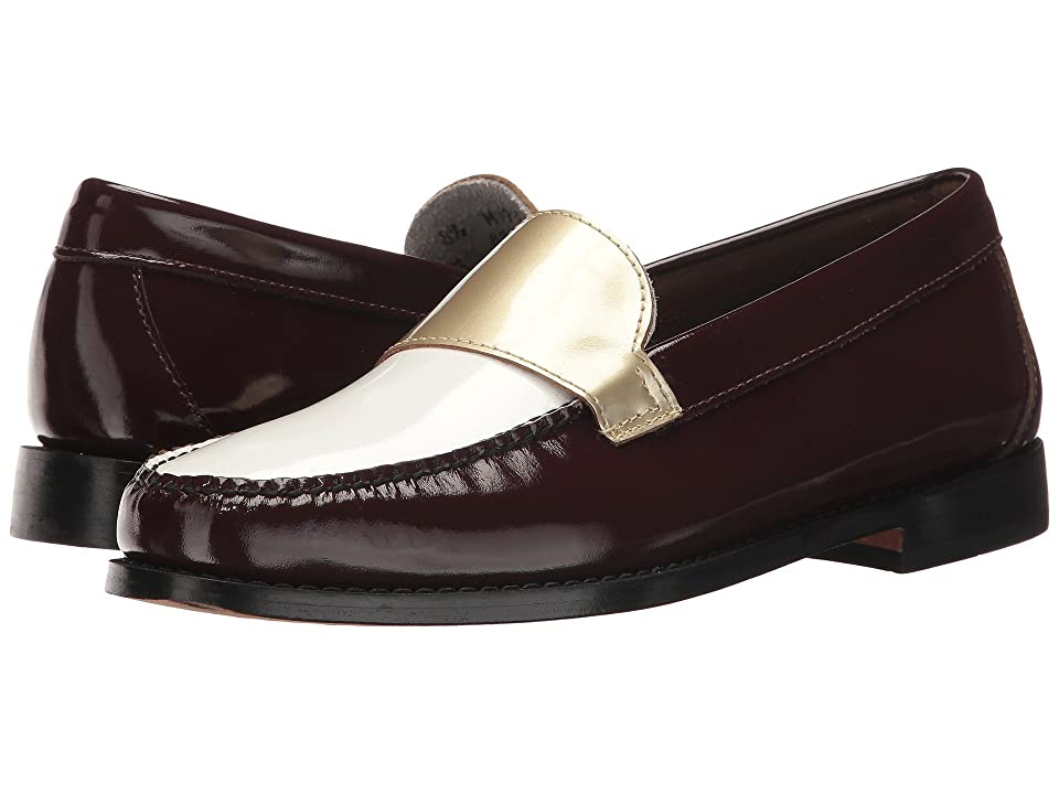G.H. Bass & Co. Wylie (Wine/White/Gold Patent) Women