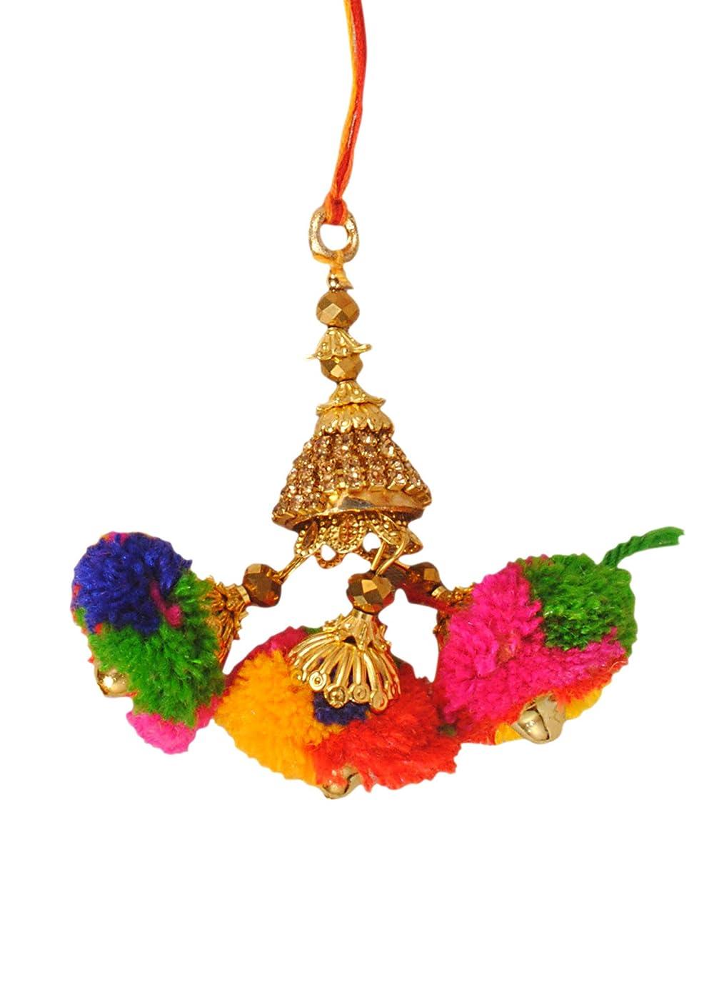 A LUMBA LATKAN for Sister in Law/BHABHI with IMMITATION ORANMENT with Colourful Thread Rakhi/Rakhee for Bhaiya Brother/Sisters,Traditional Rakhi,Thread,Bracelet for rakshabandhan