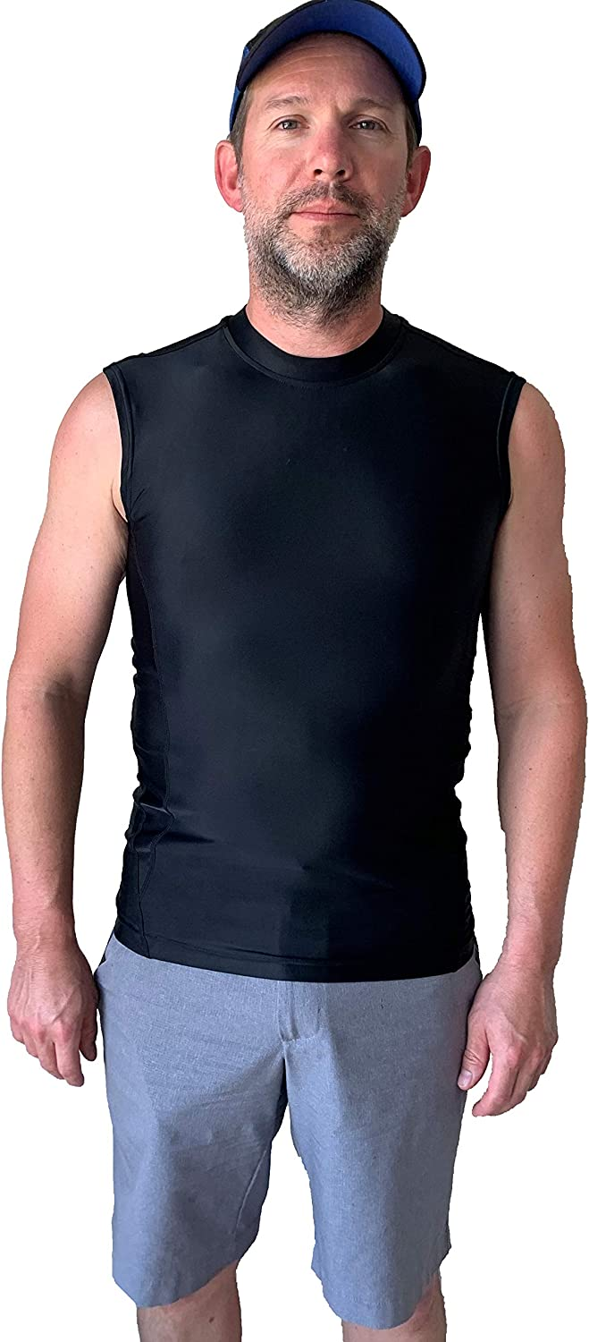 Men/'s Compression Tops Sports Workout Tank Top Dri fit Printed Sleeveless Shirts