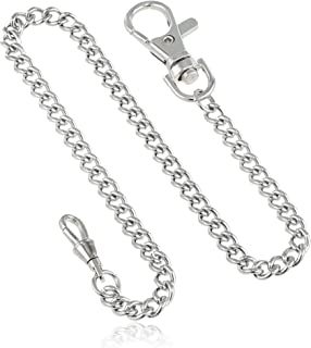 Charles-Hubert, Paris 3548-W Stainless Steel Pocket Watch Chain