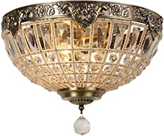 Newrays Retro Vintage Charming Royal Empire Style Led Crystal Modern Ceiling Lamp E27 for Hotel Church Living Room