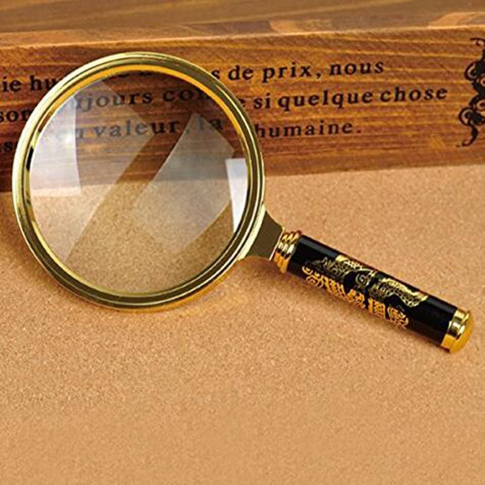 Xfome Style 90mm Handheld 5X Magnifier Kansas City Challenge the lowest price Mall Le Magnifying Glass Loupe