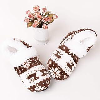Calcetines 2019 nuevas mujeres calientes de los calcetines de invierno niñas dormitorio del piso del calcetín de Navidad regalo for adultos antideslizante calcetines térmicos Zapatillas ( Color : D )