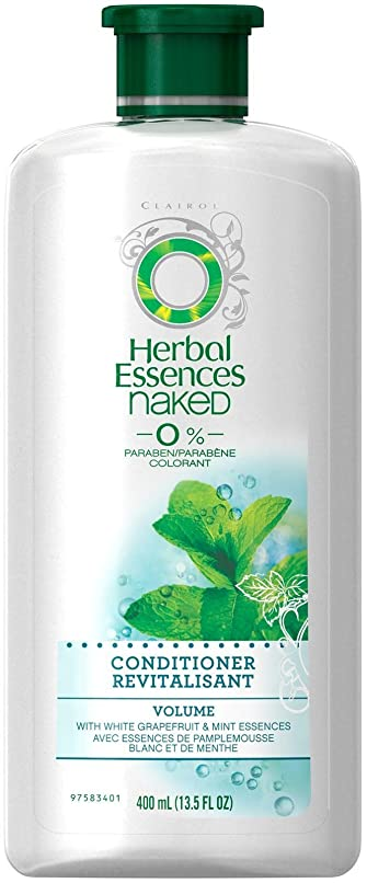 調停するあごひげ自動Herbal Essences 裸のボリュームコンディショナー - 13.5オズ