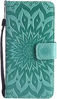 P10 Plus Case, Dfly-US Premium Soft PU Leather Embossed Mandala Design with Kickstand Function Card Slot Holder Slim Flip Protective Wallet Cover Huawei P10 Plus Green unknown