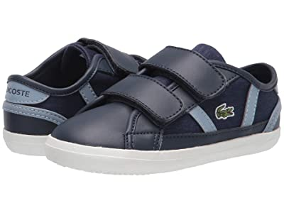 Lacoste Kids Sideline 0120 1 CUI (Toddler/Little Kid) (Navy/Light Blue) Kid