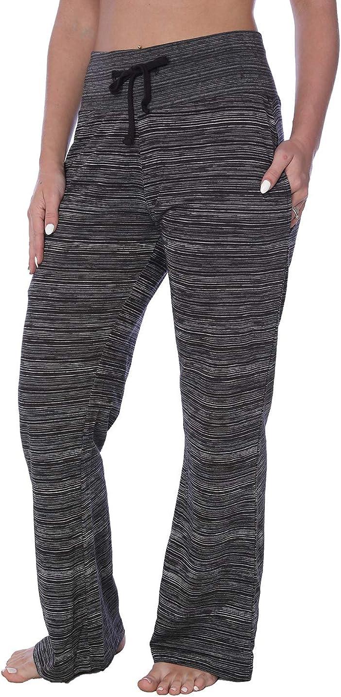 Women's Hi Waist Long Leg Jersey Knit Pajama Lounge Pant Available in Plus Size
