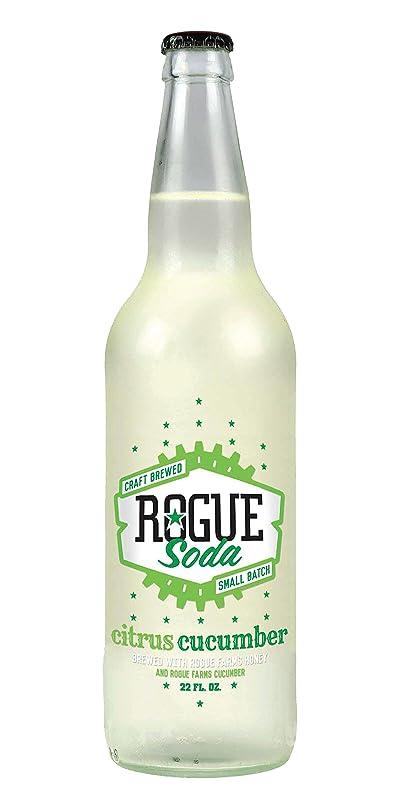 Rogue Soda Citrus Cucumber Craft Brewed Soda, 22 oz dp666637610