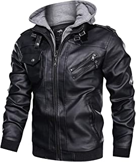 Best leather bomber hooded jacket Reviews
