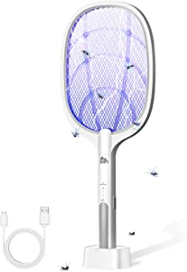 PAL&SAM Bug Zapper, Mosquito Killer USB / Wireless Rechargeable, Electric Fly Swatter Lamp & Racket 2 in 1 for Home, Bedroom, Kitchen, Patio