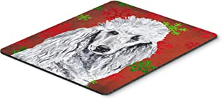 Caroline's Treasures White Standard Poodle Red Snowflakes Holiday Mouse Pad/Hot Pad/Trivet (SC9751MP)