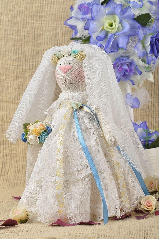 Handmade Wedding Rabbit Unusual Soft Toy Bride Stylish Wedding Decor Ideas