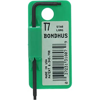 Bondhus 31810 T10 Star Tip Hex Key L-Wrench with ProGuard Finish 5 Piece