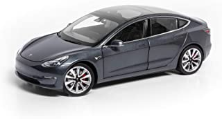 Tesla Diecast 1:18 Scale Model 3 - Midnight Silver Metallic