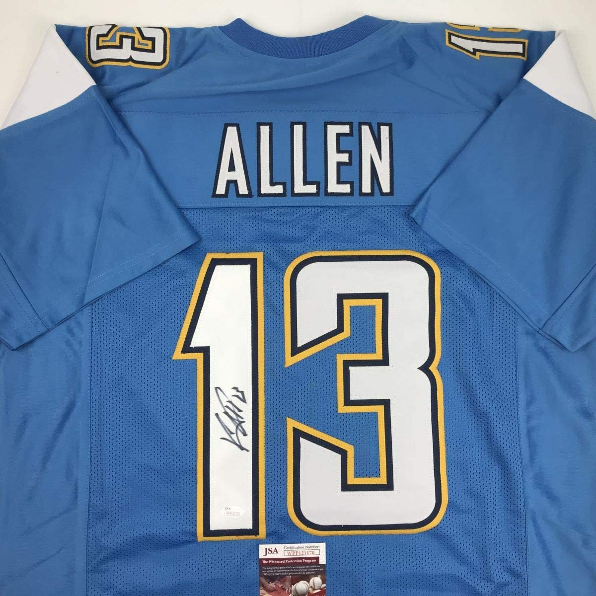 Autographed Signed Keenan Allen Los Angeles LA Blue Footb Indefinitely Very popular Powder
