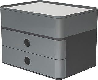 HAN 1100-19 SMART-BOX PLUS ALLISON, boîte de rangement design avec 2 tiroirs et boîte à ustensiles granite grey