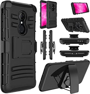 Revvl 2 Case (T-Mobile), Alcatel 3 Case, Alcatel REVVL 2 5052W Case, Elegant Choise Shockproof Kickstand and Belt Clip Hybrid Heavy Duty Full Body Protective Case for Alcatel Revvl 2 5.5