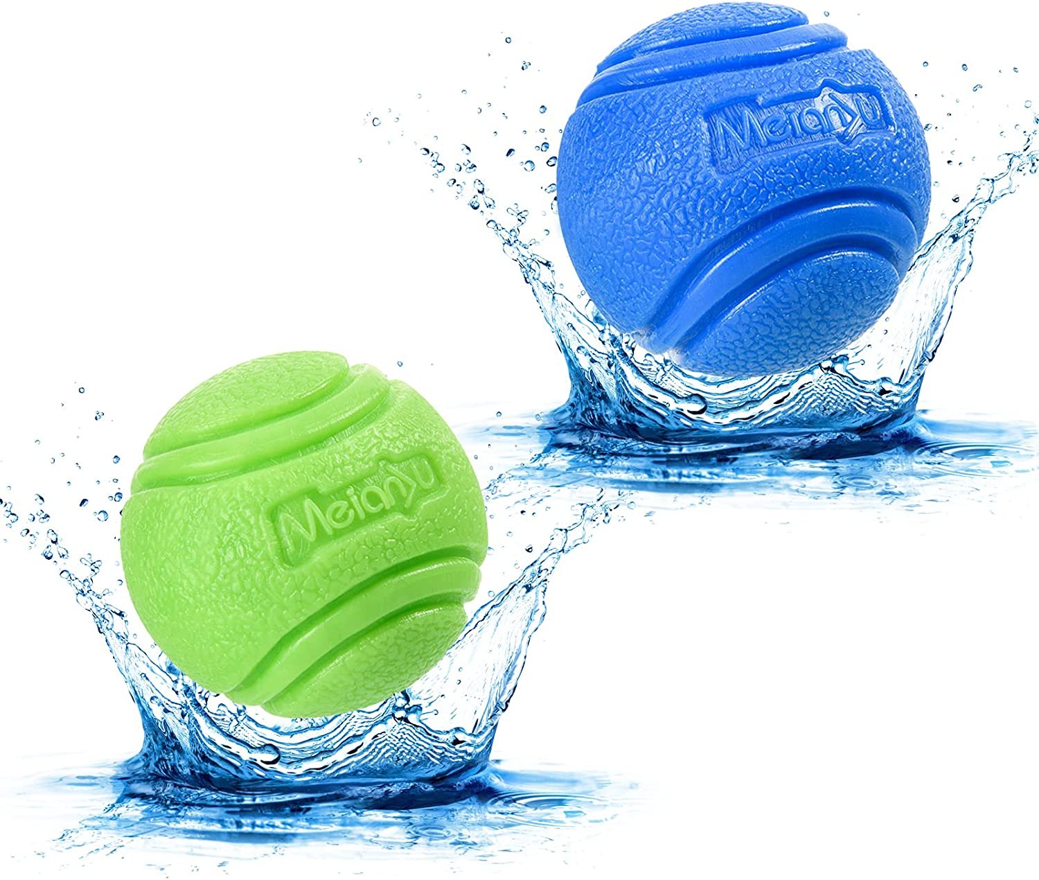 Louisville-Jefferson County Mall Vitalili 2 PCS Dog Toy Balls Rubber Dogs 5% OFF Water for Ball To