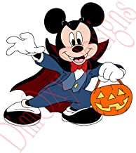 One Stop Nails Halloween, Mickey Mouse in Vampire Costume Static Cling Decoration for Windows Mirrors Polished Metal Surfaces. (5