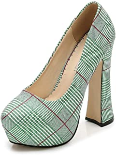5830d38d1e2 Chx High Waterproof Platform Houndstooth High Heels Ladies Elegant  Temperament Style