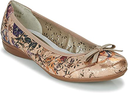 Women/'s Rieker Multi Floral Low Wedge Heel Flatform Slip On Loafer