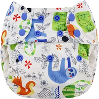 Blueberry One Size Simplex All in One Cloth Diapers, Made in USA (Sloth)