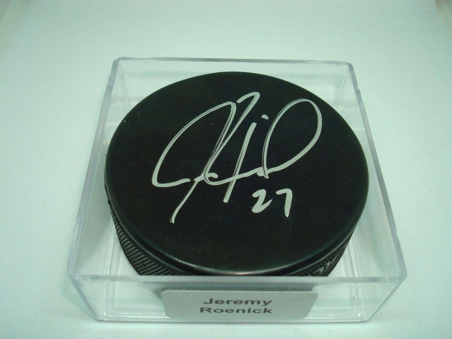 Jeremy Roenick Signed Hockey Puck Blackhawks Flyers Sharks Kings Coyotes 1A  Autographed NHL Pucks