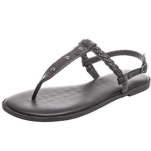 7fb7b214ea Aukusor Women's Wide Width Flat Sandals - Flip Flop Open Toe T-Ankle Strap  Flexible