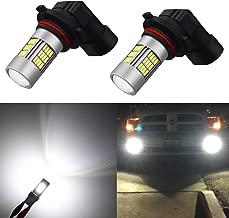 Alla Lighting Super Bright HB4 9006 LED Fog Lights Bulbs 4014 54-SMD LED 9006 Fog Light Bulb 6000K Xenon White HB4 9006 LED Bulbs for Cars Trucks Fog Lights Replacement (Set of 2)