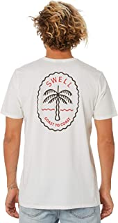Swell Men's Shady Mens Tee Crew Neck Short Sleeve Cotton White