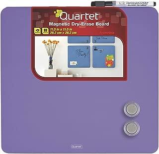 Quartet Magnetic Dry-Erase Boards, Tin Square, 11.5 x 11.5 Inches, Purple (TSQ1212-PRS)