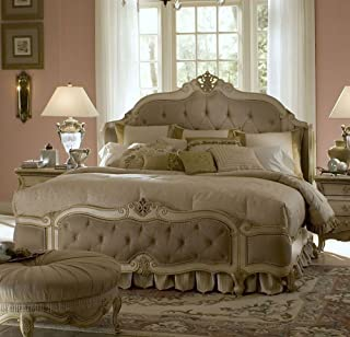 Lavelle Blanc Queen Wing Mansion Bed by AICO - (54012R-04)