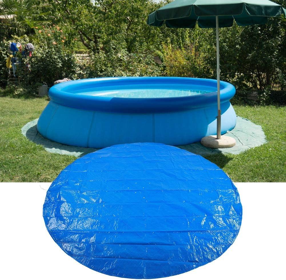 Paño de Suelo de Piscina, Forma Redonda PE Impermeable Impermeable a Prueba de Polvo Cubierta de Piscina Accesorios de Tela Protectora para Piscinas Azul(335cm)