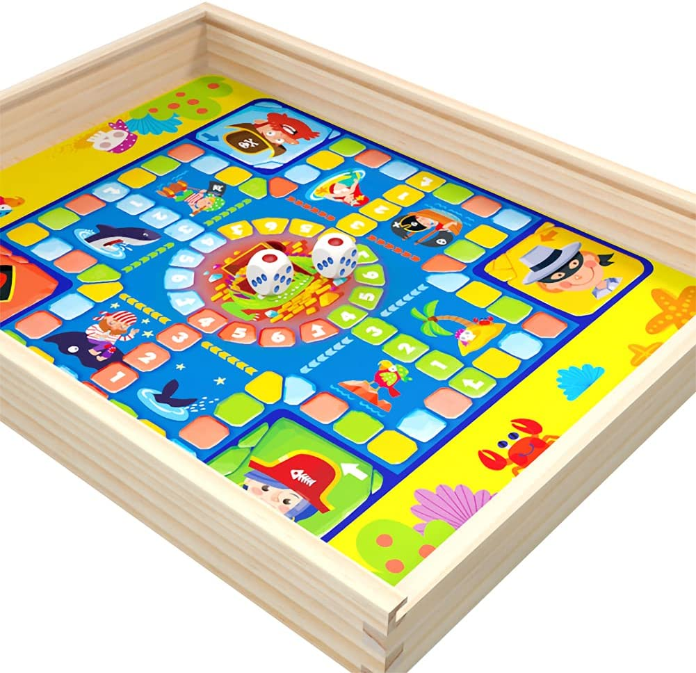KUOPE Wooden 7-in-1 Board Game Chin Set Combo Max 46% OFF with Raleigh Mall Ludo