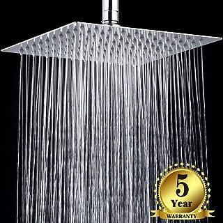 Diamber Crackproof Rain Shower Head 12 inch Square, SUS 304 Stainless Steel Luxury Waterfall Showerhead, Chrome, 5-year Wa...