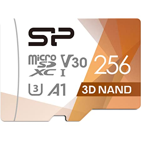 Silicon Power 256GB Micro SD Card U3 SDXC microsdxc High Speed MicroSD Memory Card with Adapter for Nintendo-Switch, Wyze Cam and Drone