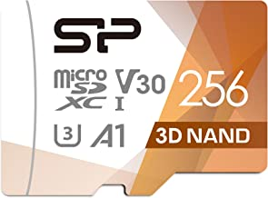 $27 » Silicon Power 256GB R/W up to 100/ 80MB/s Superior Pro microSDXC UHS-I (U3), V30 4K A1, High Speed MicroSD Card with Adapter