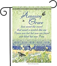Aric Cemetery Memorial Amazing Grace Double Sided Garden Flag 13 x 18