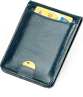 Men's RFID Blocking Slim Credit Card Holder Minimalist Leather Bifold Front Pocket Wallet
