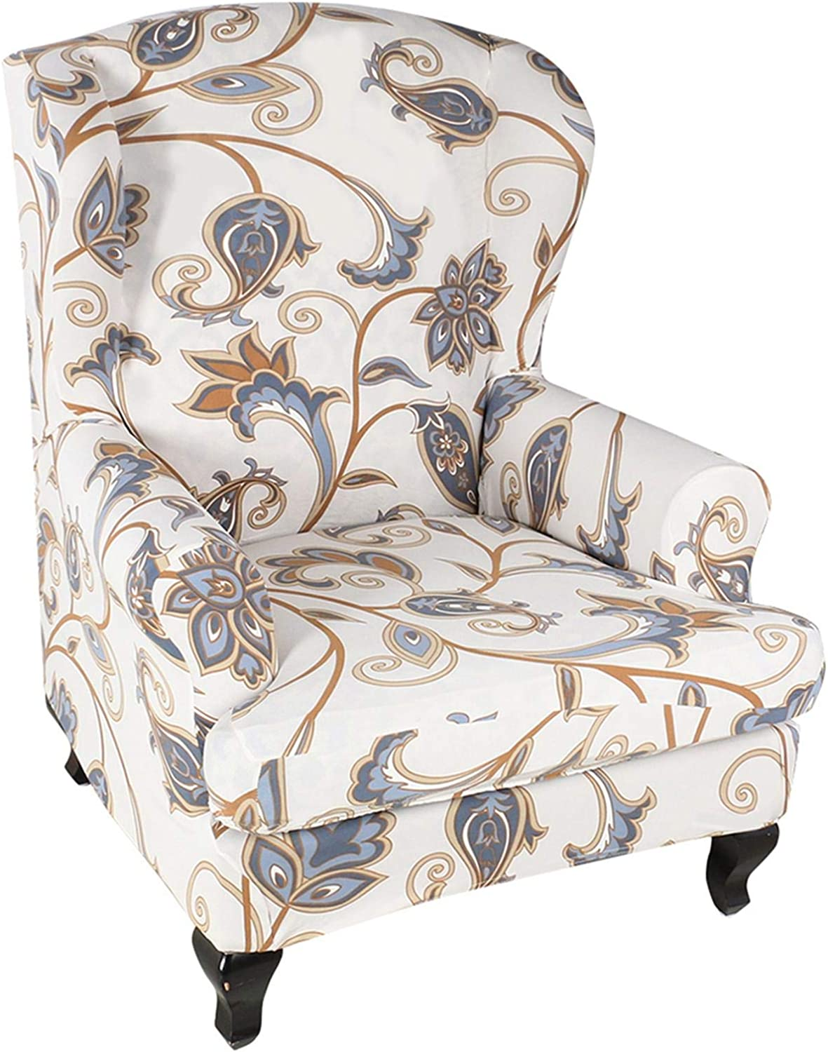 Cheap bargain Wing Kansas City Mall Chair Cover Wingback Polyester Fab Armchair Spandex