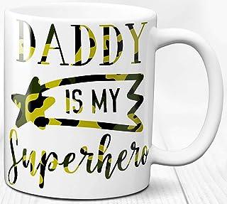 Taza de café de papá superhéroe regalo para padre Taza de cerámica de 330 ml El mejor tema de papá superhéroe