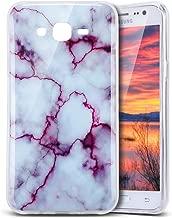 Galaxy J7 Case, PHEZEN IMD Purple Marble Pattern IMD Design Cute Creative Anti-Scratch Bumper Ultra Slim TPU Soft Case Rubber Silicone Skin Cover for Samsung Galaxy J7 J700 (2015)