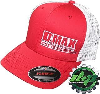 9c65621527a0b OSFM DMAX Diesel Flexfit Fitted Flex fit Trucker Ball Cap hat Chevy Duramax  red