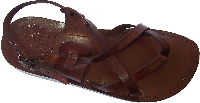 Holy Land Market Unisex Genuine Leather Biblical Sandals - Jesus -Yashua Style III