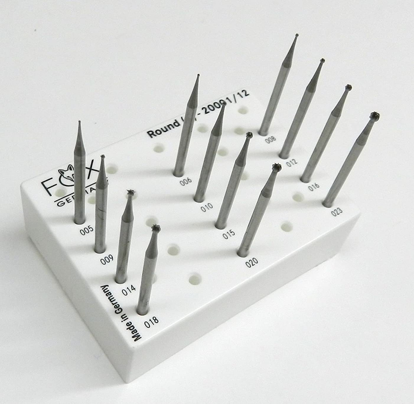 JEWELRY MAKING BURS SET ROUND SHAPE BALL BURS JEWELERS FIG1 005-023 FOX GERMANY (E 4)