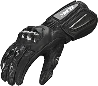 ILM Air Flow Leather Motorcycle Gloves For Men and Women (L, BLACK-LONG)