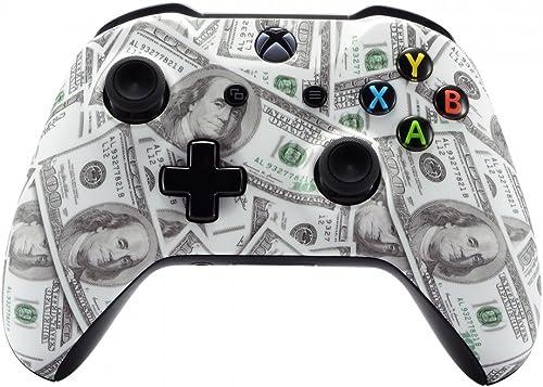 eXtremeRate Coque Avant,Boîtier Housse de Remplacement pour Xbox One X/S Manette Contrôleur(Modèle 1708)-100$Dollar