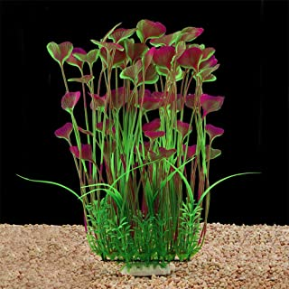 QUMY Large Aquarium Plants Artificial Plastic Fish Tank Plants Decoration Ornament Safe for All Fish
